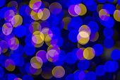 Colorful Background With Defocused Lights
