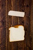 Portion Piece Of White Bread