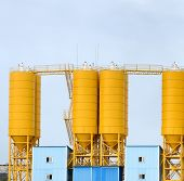 industrial cement processing facility
