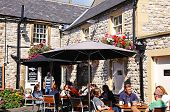 Pavement cafe, Bakewell.