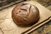 Loaf Of Rye Breadon Paper Bag