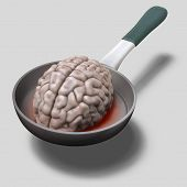Human Brain On Hot Pan Illustration