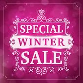 Winter Special Sale Business Background