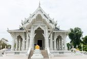White Buddhist Temple In Thailand