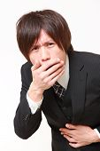 Japanese businessman vomit