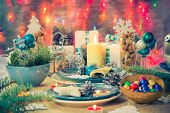 Christmas Xmas Eve Table Board Setting