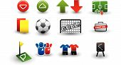 Selection of soccer related icons