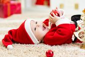 Baby weared Christmas clothes