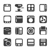 Silhouette Home and Office, Equipment Icons