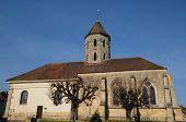 The Classical Church Of Condecourt  In Val D'oise