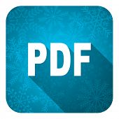 pdf flat icon, christmas button