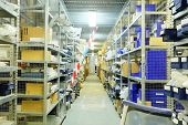 image of shelves in the warehouse