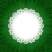 Green vintage floral banner.