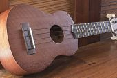 stock photo of memento  - Soprano Ukelele an exotic wooden stringed instrument of the Hawaiian Islands