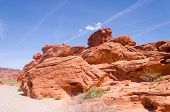 picture of valley fire  - Red rocks in Valley of fire State park in Nevada - JPG