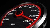 pic of speedometer  - Conceptual 2016 year speedometer - JPG