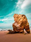 image of atlantic ocean beach  - Beach in the coast of Atlantic  - JPG