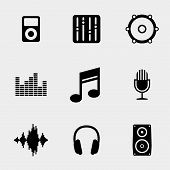 picture of equality  - Music and sound icons set - JPG