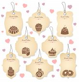 pic of food label  - Cakes and desserts tag labels - JPG