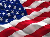 stock photo of glory  - 3d illustration of american old glory flag - JPG