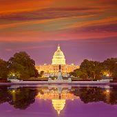 pic of capitol building  - Capitol building sunset congress of USA Washington DC US - JPG
