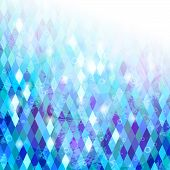 picture of parallelepiped  - Blue grunge mosaic background with geometric texture - JPG
