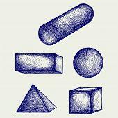 image of cylinder pyramid  - Geometry - JPG
