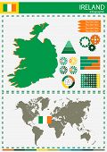 picture of nationalism  - vector Ireland illustration country nation national culture - JPG