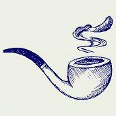 stock photo of tobacco-pipe  - Tobacco pipe - JPG