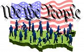picture of preamble  - graphic depicting a usa map with silhouette people over the words - JPG