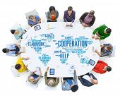 picture of coworkers  - Coorperation Business Coworker Planning Teamwork Concept - JPG