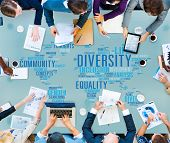 foto of racial diversity  - Diversity Community Meeting Business People Concept - JPG