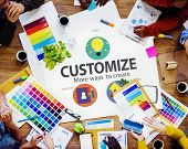 image of modification  - Customize Ideas Identity Individuality Innovation Personalize Concept - JPG