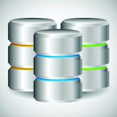 stock photo of mainframe  - Metal Cylinder - JPG