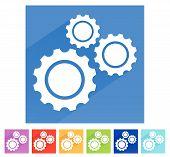 pic of gear wheels  - Various gear wheel rack wheel vector graphics - JPG