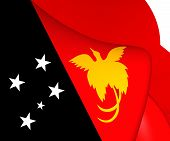 picture of papua new guinea  - 3D Flag of Papua New Guinea - JPG