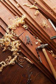 stock photo of lumber  - Woodworking - JPG
