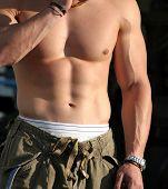 Man's perfect body