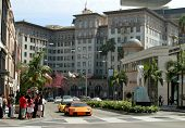 En Rodeo drive, en Beverly Hills, California