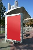 Place your ad on bus stop board (With clipping paths)
