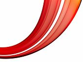 Abstract smooth red lines