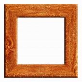 Wooden frame with blank space