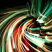 Colorful abstract glowing twirl