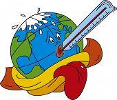 Vector illustration of Global warming