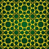 Vector illustration of complex islamic seamless pattern
