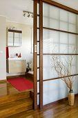 modern bathroom in japan style