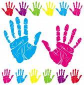 color handprints