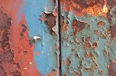 Red And Blue Rust Detail