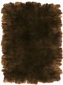 Old torn leather parchment, antique writing material background texture isolated on white