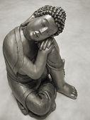 platinum camera reproduction showing a reclining Buddha statue